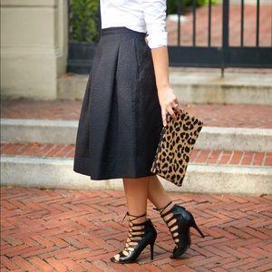 H&M Textured Midi Skirt